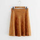 Plain Suede A-Line Skirt 1596