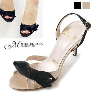 Buy MICHEL PARA COLLECTION Bow-Accent Satin Stilettos 1022938448