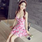 Floral Print Swimdress 1596
