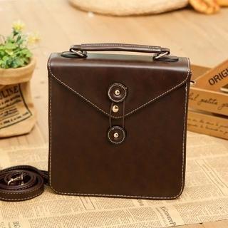 Faux Leather Envelope Flap Satchel 1044864065