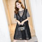 Maternity Set: T-Shirt Dress + Lace Dress 1596