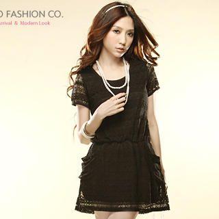 Buy Tokyo Fashion Short-Sleeve Lace Dress 1022859543