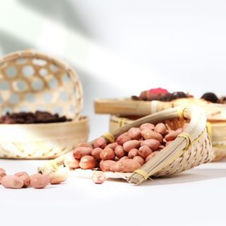 Image of Bamboo Woven Basket Photography Props