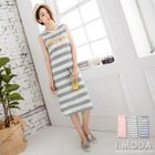 Sleeveless Striped Dress 1596