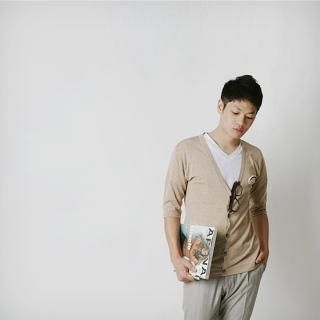 Picture of BoynMen Set: 3/4 Sleeve Knit Cardigan + Brooch 1022765244 (BoynMen, Mens Knits, Korea)