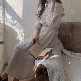 Long-sleeve   Collar   Dress