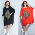 Sequined Elbow-Sleeve Dress 1596