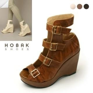 Buy HOBAK girls Genuine Leather Platform Strap Pumps 1022184617