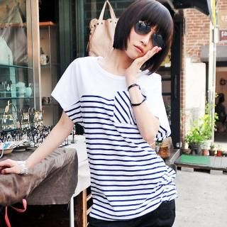 Picture of Miss Hong Striped T-Shirt 1022748043 (Miss Hong Dresses, Womens Dresses, South Korea Dresses, T-Shirt Dresses)