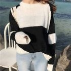 Color-Block Loose-Fit Sweater 1596