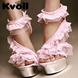 Buy Kvoll Ruffle Platform Sandals 1022906368