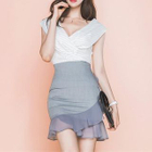Set: Striped Top + Ruffled Skirt 1596