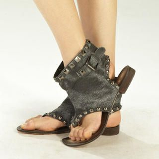"Buy tictak Studded ""Buckle"" Denim Cuff Sandals 1023065989"
