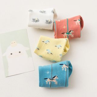 Set of 4: Animals Cotton Socks 1057565346