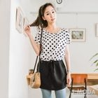 Short-Sleeve Dotted Panel Dress 1596