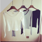 Ribbed Long Sleeve Top от YesStyle.com INT