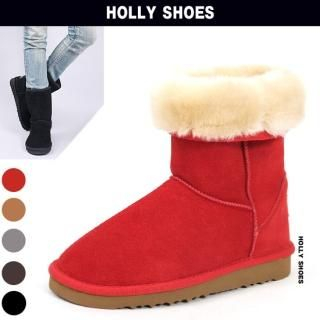 Buy Holly Shoes Fleece Lined Suede Boots 1021698150