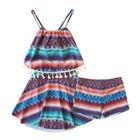 Set: Open Back Swimdress + Swim Shorts 1596
