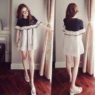 Frilled Short-Sleeve Dress 1596