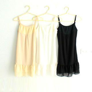 Buy CatWorld Lace-Front Ruffled Slipdress 1022704118