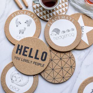 Image of Animal Print / Geometric / Lettering Coaster