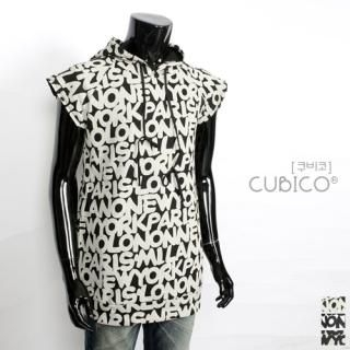 Picture of CUBICO Hooded Printed Top 1022928038 (CUBICO, Mens Tees, Korea)