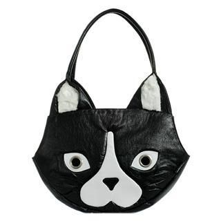 Buy Morn Creations Cat Handbag (B/W – L) Black/White – L Size 1011631208
