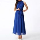 Halter Chiffon Maxi Dress 1596