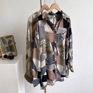 Long-sleeve | Abstract | Shirt | Print