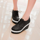 Lace-Up Platform Wedge Shoes White - 37 от YesStyle.com INT