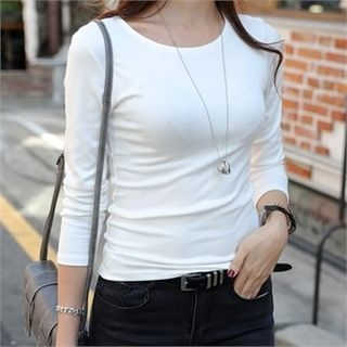 Long-Sleeve Slim-Fit T-Shirt 1053543465
