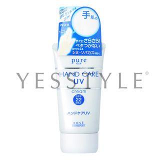 Kose - Pure Hand Care UV Cream SPF 22 PA+ 50g