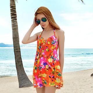 Tropical Print Swimdress 1038413861