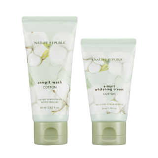 Nature Republic - Cotton Armpit Kit: Cotton Armpit Wash 80ml + Cotton Armpit Whitening Cream 50ml 2pcs 1050305606