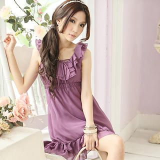 Buy Tokyo Fashion Sleeveless Ruffle Empire Chiffon Dress 1022968530
