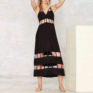 Cutout Spaghetti Strap Midi Dress 1055789218