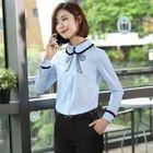 Shirt / Dress Pants / Mini Pencil Skirt / Set 1596
