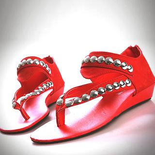 Buy Kvoll Genuine Suede Studded Sandals 1022740818