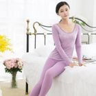 Pajama Set : Lace-Trim Shaper Warmer Top + Pants 1596
