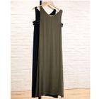 Sleeveless A-Line Maxi Dress 1596