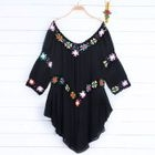 Floral Embroidery Cover-Up 1596