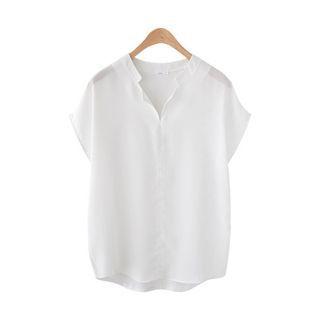 V-neck Short-Sleeve Top 1060151011