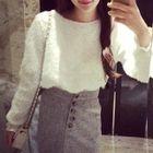 Set: Plain Sweater + A-line Skirt 1596