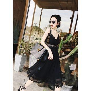 Spaghetti Strap Lace Dress 1061158744