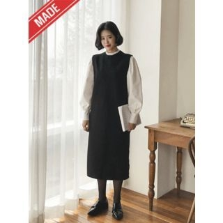 Round-Neck Sleeveless Midi Dress 1063766768