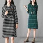 Striped Hoodie Dress 1596