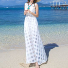 Check Sleeveless A-Line Maxi Dress 1596