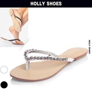 Buy Holly Shoes Beaded Flip Flops 1022992624