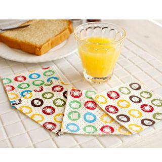 Set of 4: Patterned Cup Mat 1045289245