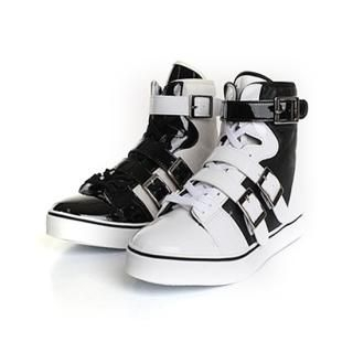 Buy ISNOM Color-Block High Top Sneakers 1022445751